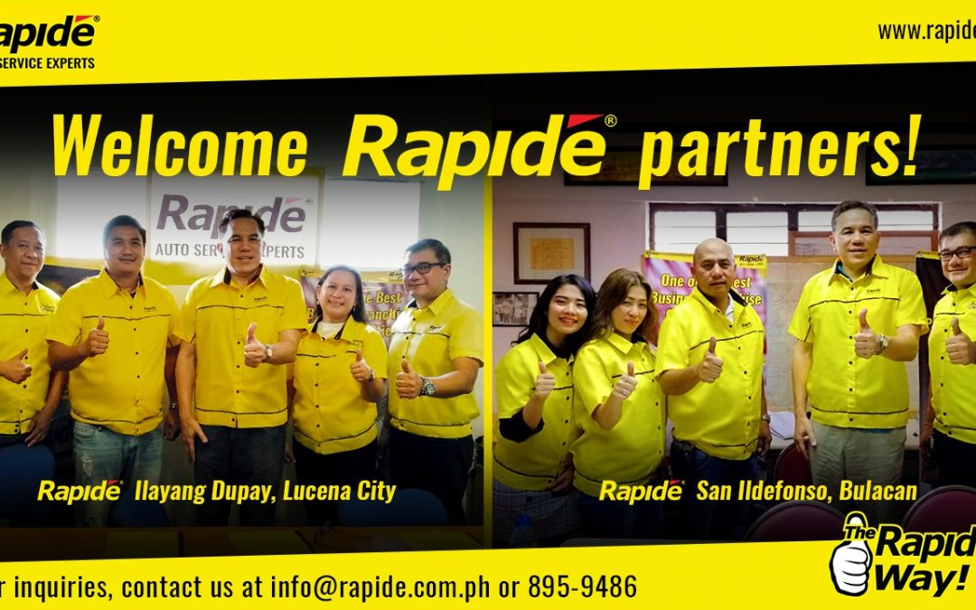 Rapide Is Going To Lucena City and San Ildefonso, Bulacan!